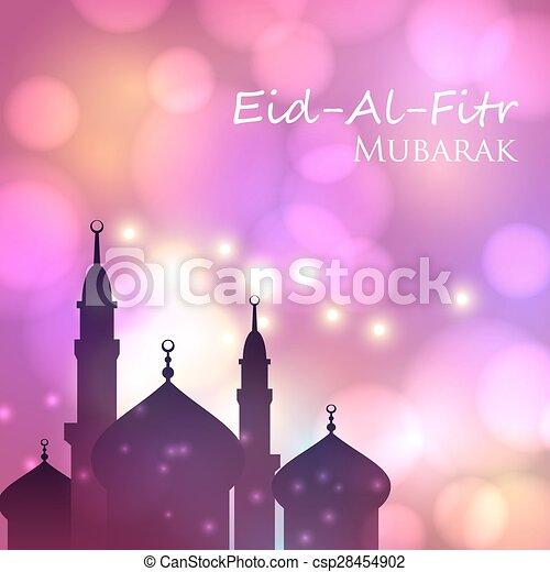 Invitation card for muslim festival eid al fitr mubarak vector card invitation card for muslim festival eid al fitr mubarak csp28454902 stopboris Gallery