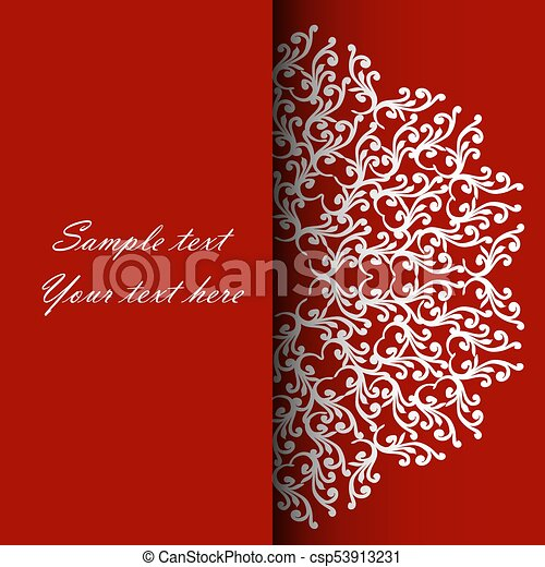 Invitation Card For The Wedding Anniversary Birthday And Other Holidays Illustrations On A Red Background With Place For