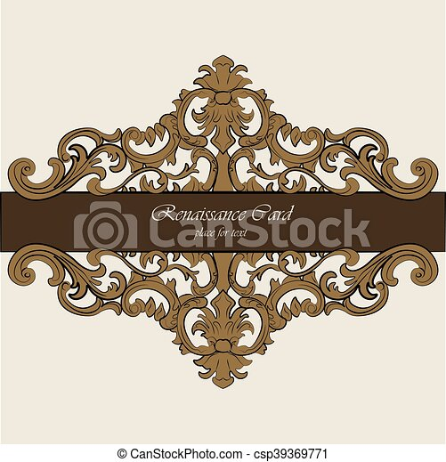 invitation card with royal ornaments invitation card with