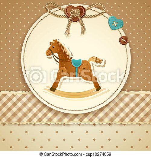 invitation, douche, bébé - csp10274059