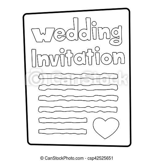 invitation icon outline style invitation icon outline