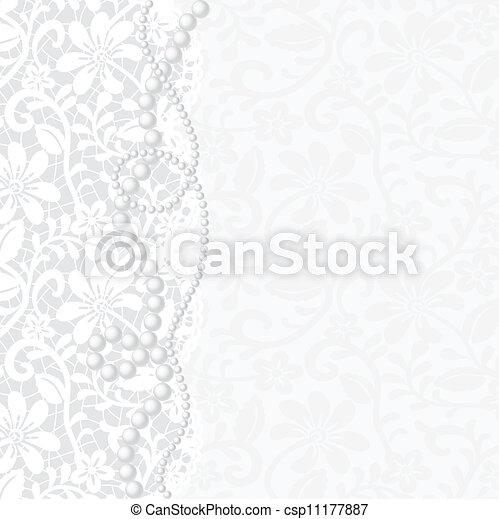 invitation, mariage, ou, carte, salutation - csp11177887