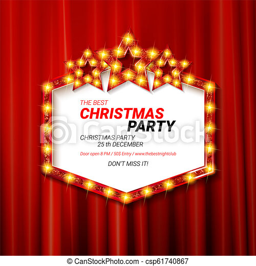 Invitation Merry Christmas Party 2019 Poster Banner And Card Design