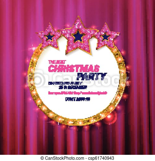 Christmas Party 2019 Clipart.Invitation Merry Christmas Party 2019