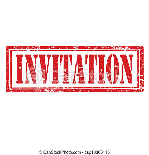 invitation stamp grunge rubber stamp with word invitation vector
