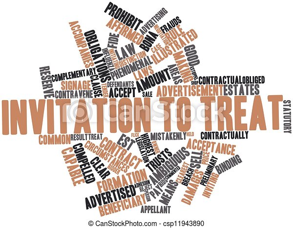 Abstract word cloud for invitation to treat with related stock invitation to treat csp11943890 stopboris Images