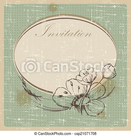 Invitation cards in an old style vector illustration vector clipart invitation csp21071708 stopboris Choice Image