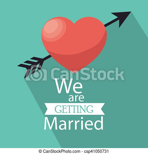 Invitation we are getting married heart shadow vector vectors invitation we are getting married heart shadow csp41050731 stopboris Image collections