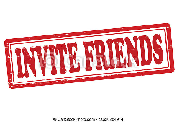 Stamp with text invite friends insidevector illustration vector