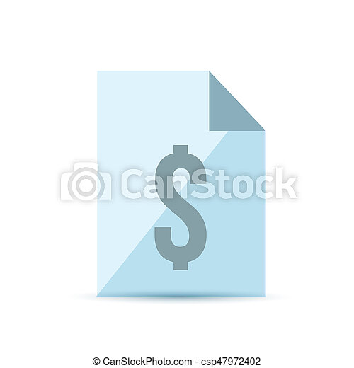 invoice and dollar sign illustration design over a white background