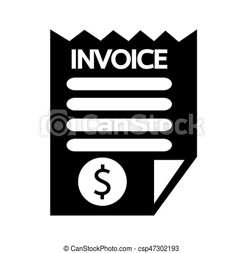 invoice bill icon. Black Bedroom Furniture Sets. Home Design Ideas