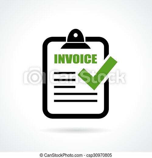 invoice icon on white background. Black Bedroom Furniture Sets. Home Design Ideas