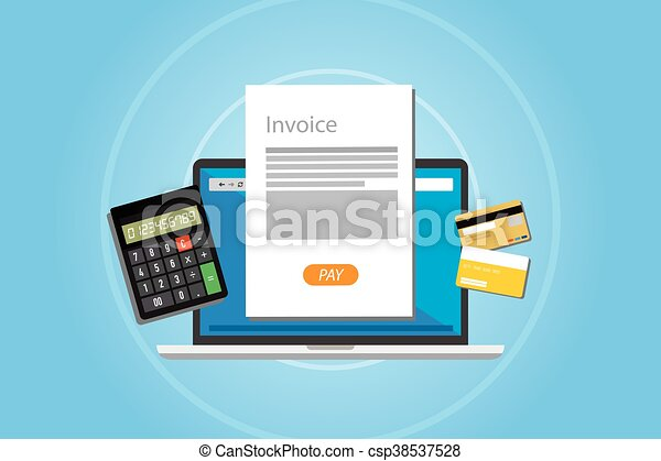 invoice invoicing online service pay - csp38537528
