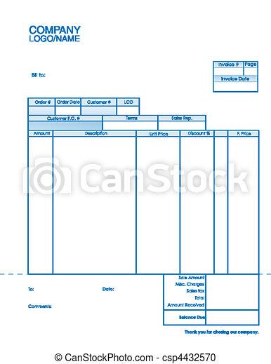 Business document invoice template invoice csp4432570 maxwellsz