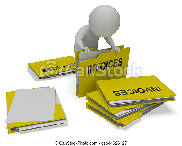 invoices folder meaning due bills 3d rendering invoices free clipart for binder covers free clip art for banners