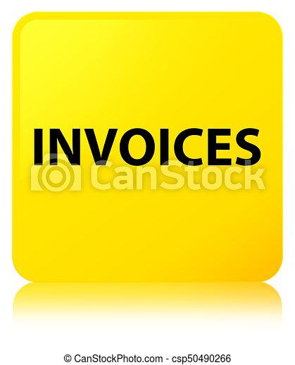 Invoices yellow square button - csp50490266
