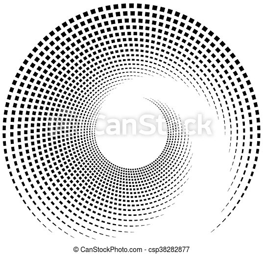 Inward spiral of rectangles. abstract geometric design element. - csp38282877