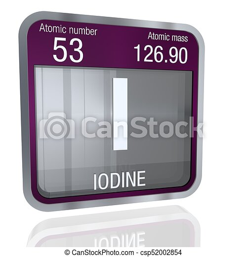 Iodine symbol in square shape with metallic border and stock iodine symbol in square shape with metallic border and transparent background with reflection on the stock illustration urtaz Image collections