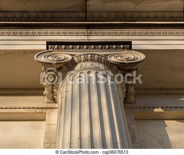 architectural detail photography. Plain Architectural Ionian Column Capital Architectural Detail  Csp36076513 In Architectural Detail Photography N