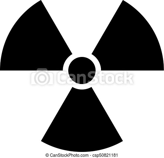 Ionising Radiation Sign Attention Danger Symbol Use It In All Your