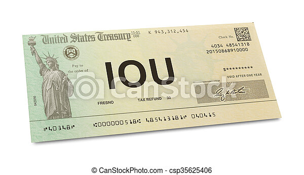 IOU Tax Return - csp35625406