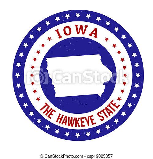 Iowa stamp - csp19025357