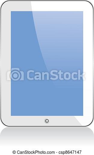ipad., vecteur, seulement, ps, concept, transparence, eps8, tablette, non, effects. - csp8647147