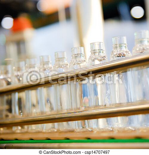 iparág, egyenes, palack, kézbesítő - csp14707497