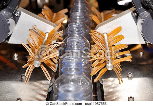 iparág, műanyag palack, kézbesítő - csp11987568