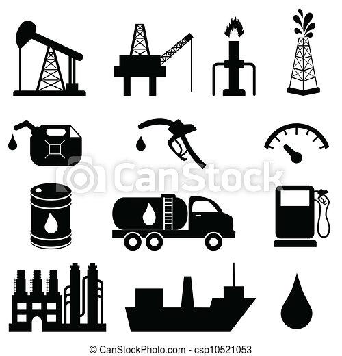 iparág, olaj, állhatatos, ikon - csp10521053
