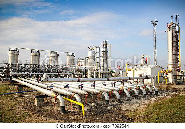 iparág, olaj, gáz - csp17092544