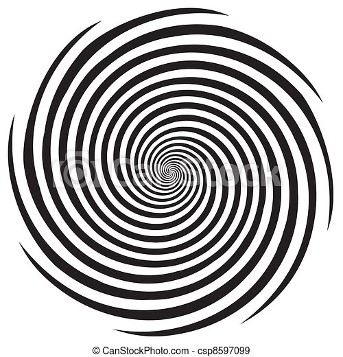 ipnosi, disegno, modello spirale - csp8597099