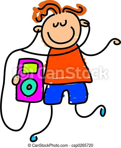 ipod kid little boy listening to his ipod toddler art stock rh canstockphoto com ipod clip art black and white ipod clipart