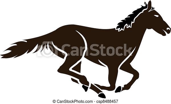 Ippica Icona Cavallo Stilizzato Corsa Correndo