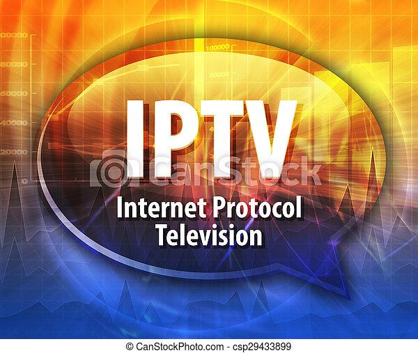 IPTV acronym definition speech bubble illustration - csp29433899