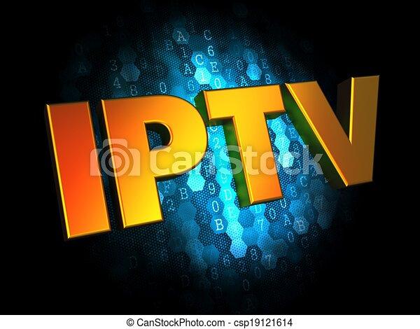 IPTV Concept on Digital Background. - csp19121614