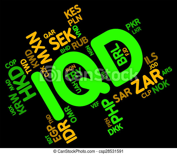 Iqd Currency Indicates Foreign Exchange And Dinar Iqd Currency