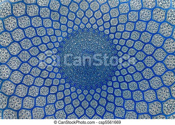 irán, kupola, isfahan, mecset, dísztárgyak, keleti - csp5561669