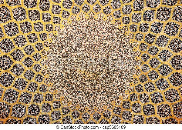 irán, kupola, isfahan, mecset, dísztárgyak, keleti - csp5605109