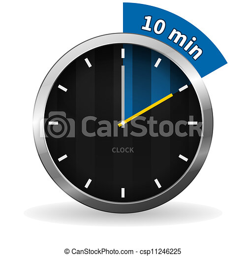 ir, 10, minutos, reloj - csp11246225