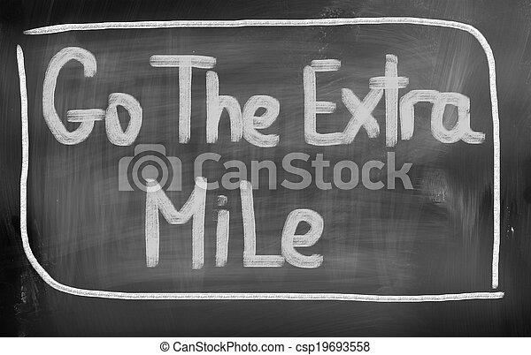 Sigue el concepto de milla extra - csp19693558