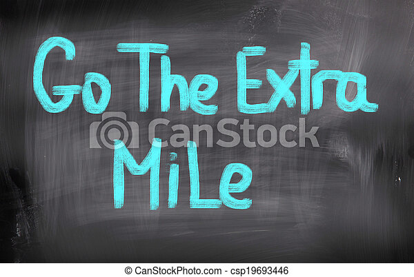 Sigue el concepto de milla extra - csp19693446