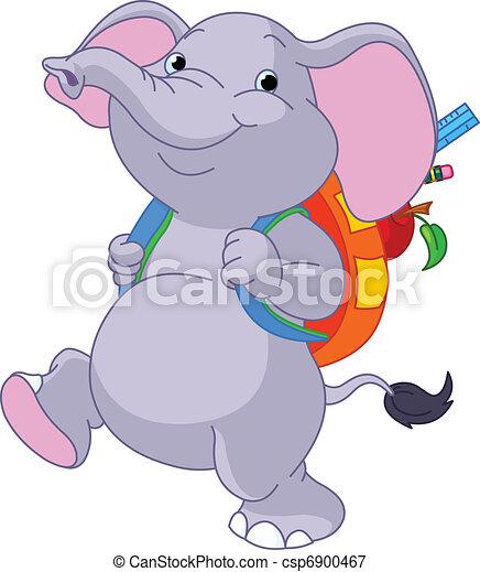 Lindo elefante va a la escuela - csp6900467