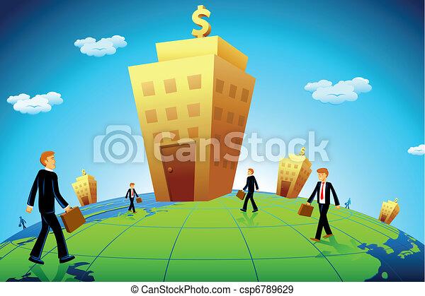 ir, negócio, banco, homem - csp6789629