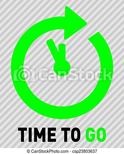 Hora de irse - csp23803637