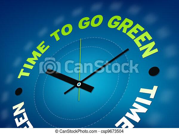 Hora de ponerse verde - csp9673504