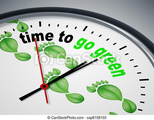 Hora de ponerse verde - csp8158103