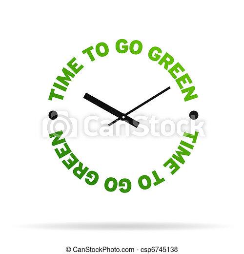 Hora de ponerse verde - csp6745138