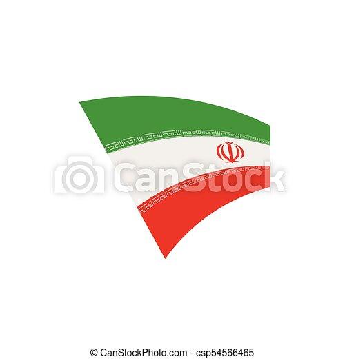 Iran Flag Vector Illustration On A White Background Clip Art Vector