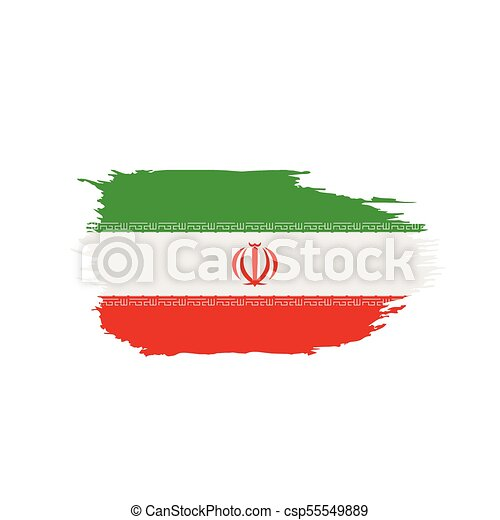 Iran Flag Vector Illustration On A White Background Vector Search